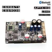 Receptor de decodificación ES9038 CSR8675 Bluetooth 5,0 compatible con LDAC/APTX 24bit/96Khz con módulo regulador de potencia aislado