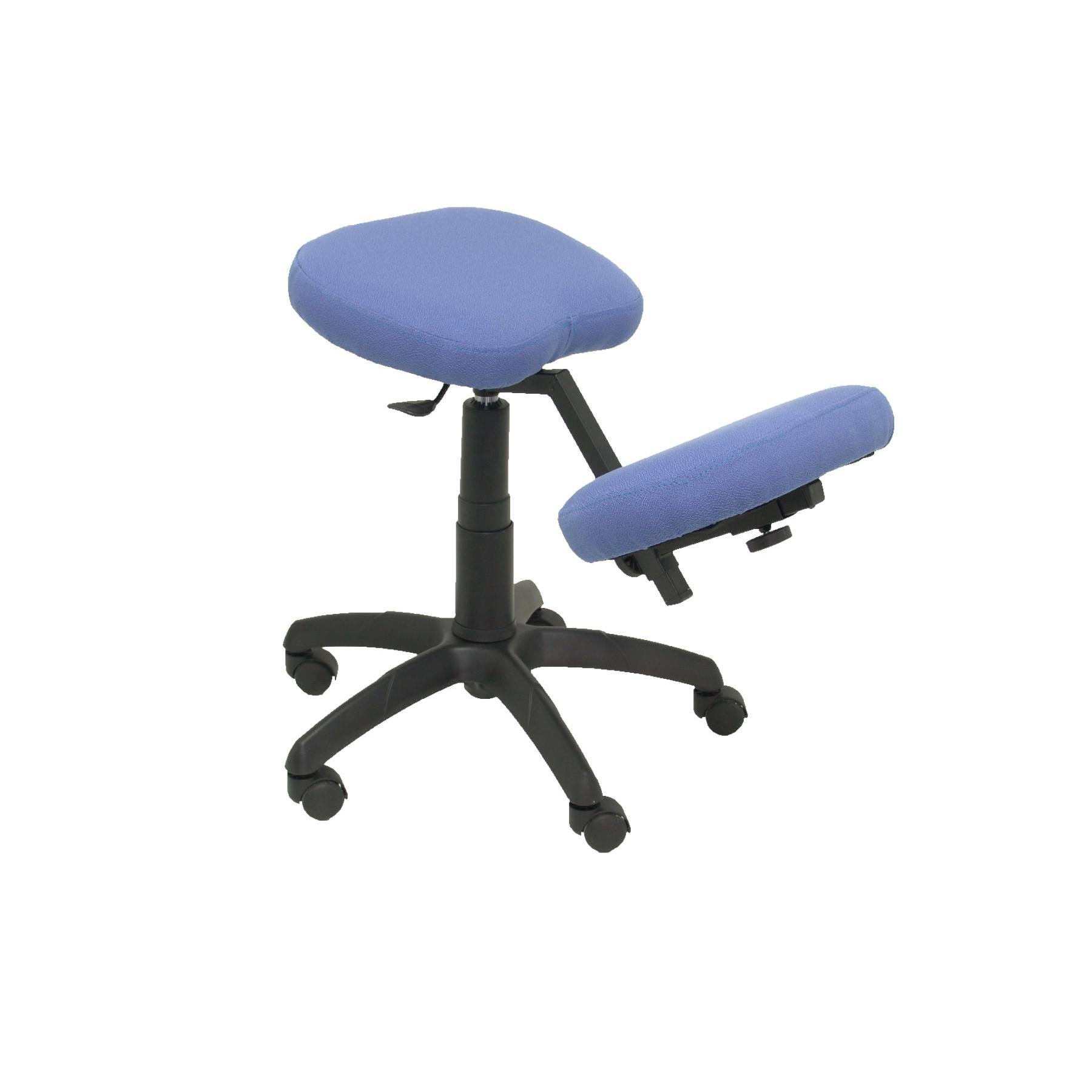 Office's Stool Ergonomic Swivel And Dimmable In High Altitude Up Seat Upholstered In BALI Tissue Full Color Blue Light (RODIL