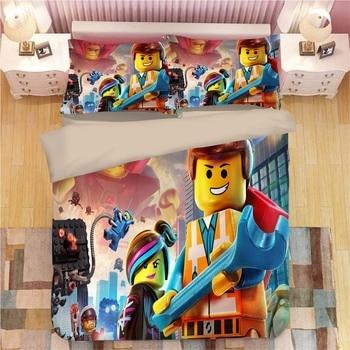 Legoings Marvel los Vengadores juego de cama edredón fundas de almohada Twin Full Queen King Batman edredón juegos de cama ropa de cama