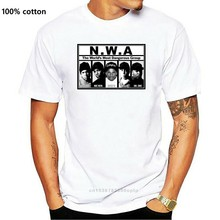 Moda N.W.A. T-shirt Hip Hop Rap NWA dr Dre Eazy E DJ Yella MC Ren erkekler T Shirt baskı pamuk kısa kollu tişört