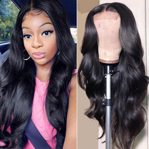 Amanda 4x4 Lace Closure Wigs Brazilian Body Wave 150% Density Remy Human Hair Wigs with Baby Hair Pre Plucked Free Part