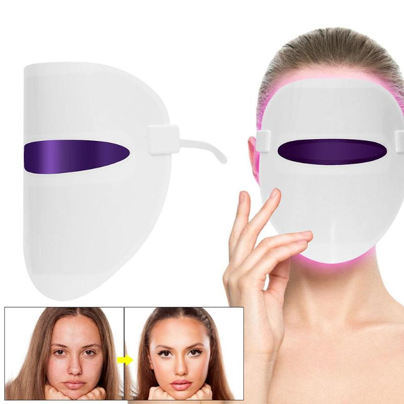 Red Blue Orange LED Light Therapy Mask Facial Cleaning Beauty Instrument