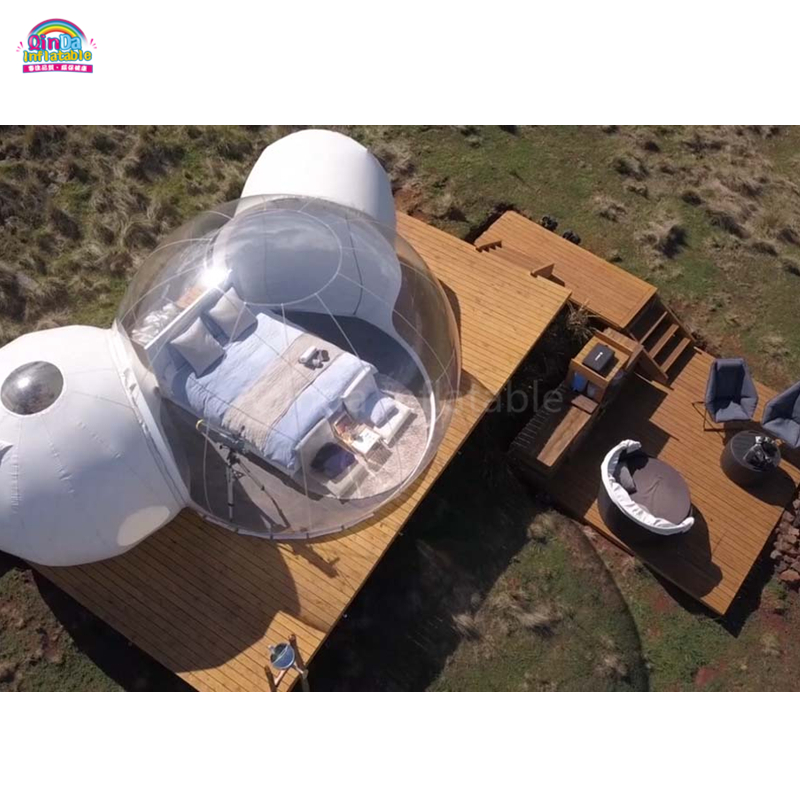 Commercial Outdoor Camping Inflatable Tent House  Transparent Starry Sky Tent  And Breakfast Bubble House Hotel