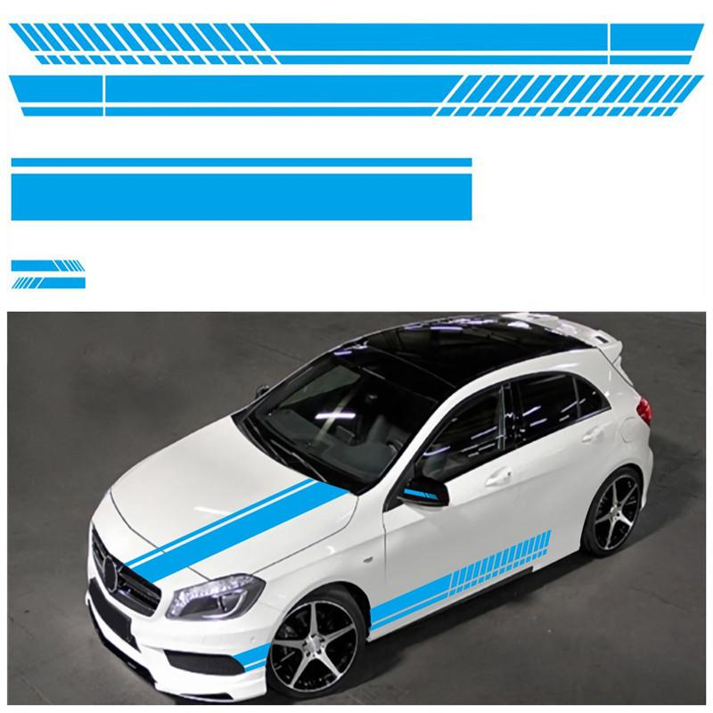 Universal 5 Color Car Body Racing Side Door Long Auto Sticker Car Stickers Rearview Mirror Side Decal Stripe Car Accessries