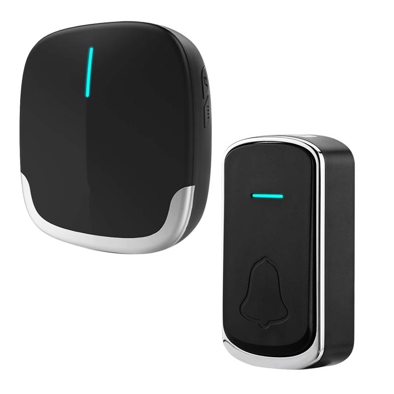 Welcome Doorbell Intelligent Wireless Doorbell Waterproof 300M Remote EU Plug Smart Door Bell Chime(UK Plug)