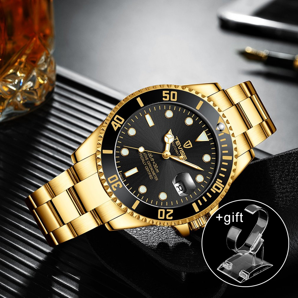 Watch Men'S Luxury Mechanical Watch Steel Belt Waterproof Automatic Watch Business New 2019