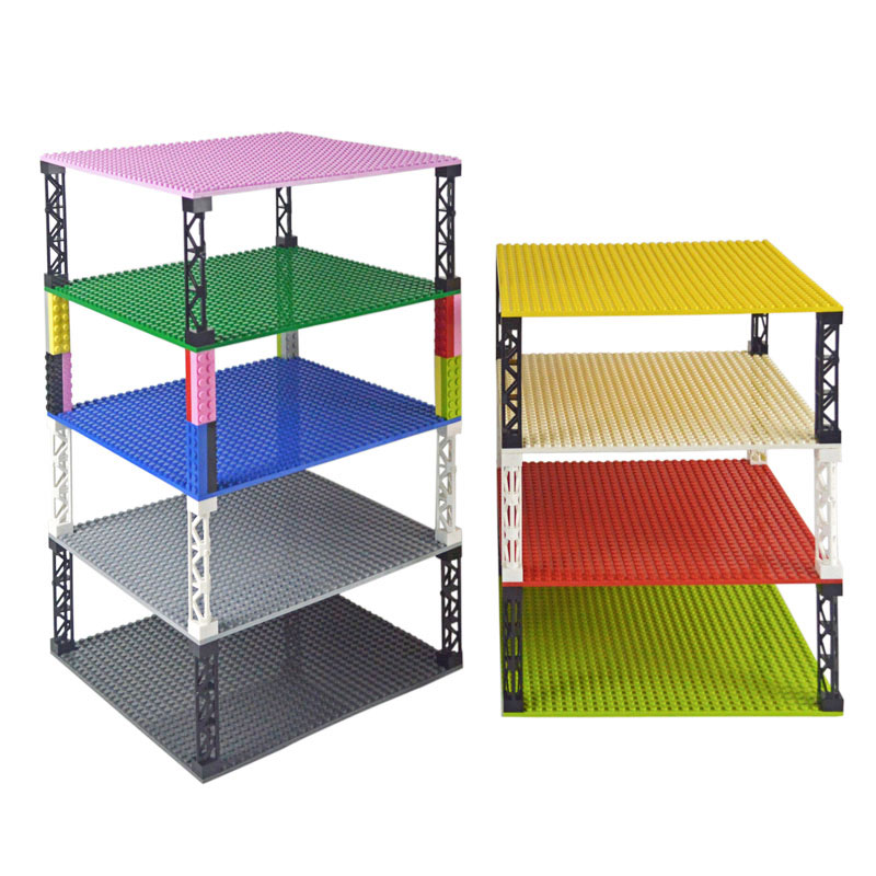 Building Blocks 32*32 Dots Double-sided Baseplates Bricks DIY Colorful Pillars Base Plate Compatible All Brands Small Blocks