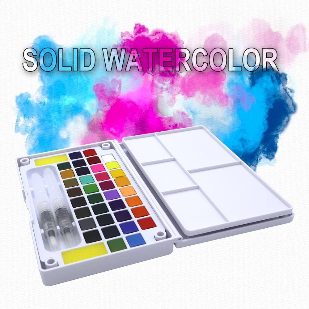 12/18/24/36Color Transparent Solid Watercolor Portable Watercolor Paint For Artist Paining Art Supplies