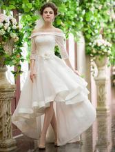 Элегантные Свадебные платья с открытыми плечами и коротким рукавом