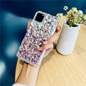 Image 4 - For iPhone 12 Cover Gradient Full Bling Crystal Diamond Love Heart Phone Case For iPhone 11 Pro Max XS XR X 8 7 6S Plus SE 2020