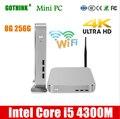 GOTHINK mini pc mit WiFi 8G 256G Intel Core i5 4300M Dual-core vier-gewinde 2,6 Ghz unterstützung WIN7/8/10 LINUX tasche PC 4K HDMI