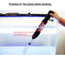 1 pc חשמלי מים מסנן מכונת כביסה אוטומטי אקווריום חצץ שואב אבק לשאוב מים מחליף משאבת האקווריום אוטומטי