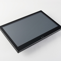 Industrial Monitor for Computer 14 Inch Monitor Desktop Screen HDMI USB Interface Resistive Touch Screen Host Monitor