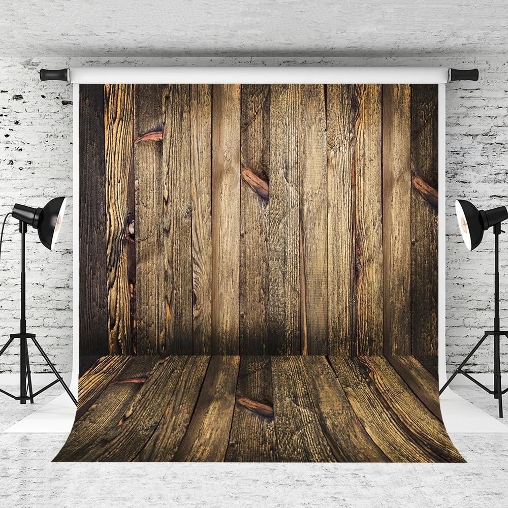 Kate 6.5x10ft Retro Classic Photography Backdrop Classic Wall Wood Floor Backdrops Photo Studio Props