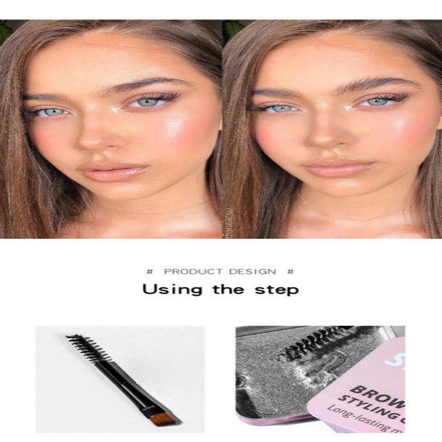 3D Feathery Eyebrow Cosmetic Gel Enhancer Balm Styling  Eyebrows Tint Pomade Waterproof Brows Long Lasting Natural Makeup TSLM1 4