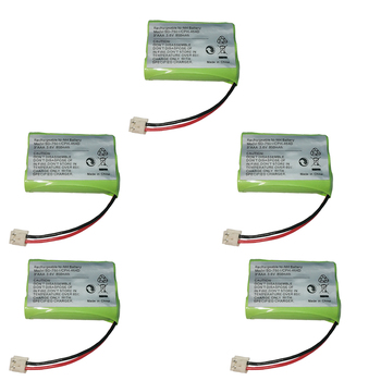 5PCS Replacement Ni-MH Battery 3.6V 800mAh for SD-7501 V-Tech 89-1323-00-00 AT & T Lucent 27910 CPH-464D 3.6V 3*AAA BATTERY image