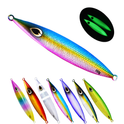 3 sztuk 150g/200g/260g Luminous powolne odlewania Jig słonowodne metalowe Jigging Fishing Lure ołowiu ryby wahadłówka pionowe Jigging Bait w Przynęty od Sport i rozrywka na