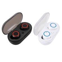 באיכות גבוהה מיני M2 TWS Bluetooth 5.0 אוזניות אלחוטי בס אוזניות עם מיקרופון טעינת תיבת אוזניות עבור Huawei iOS אנדרואיד