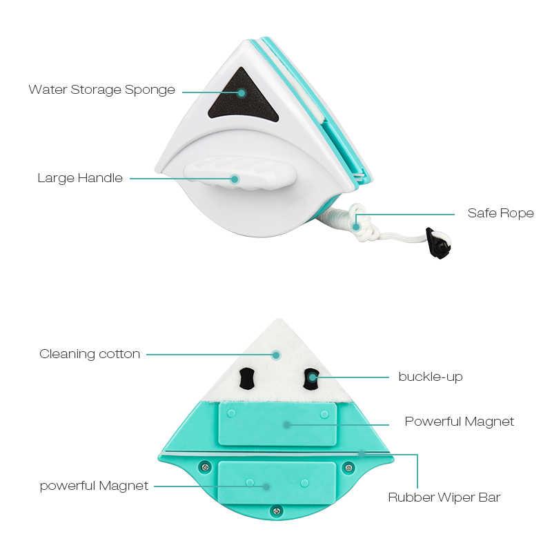 คู่-Magnetic Window Wiper ทำความสะอาดกระจก Home Wizard พื้นผิวแปรงทำความสะอาดเครื่องมือหน้าต่างเครื่องซักผ้า Squeegees กระจก