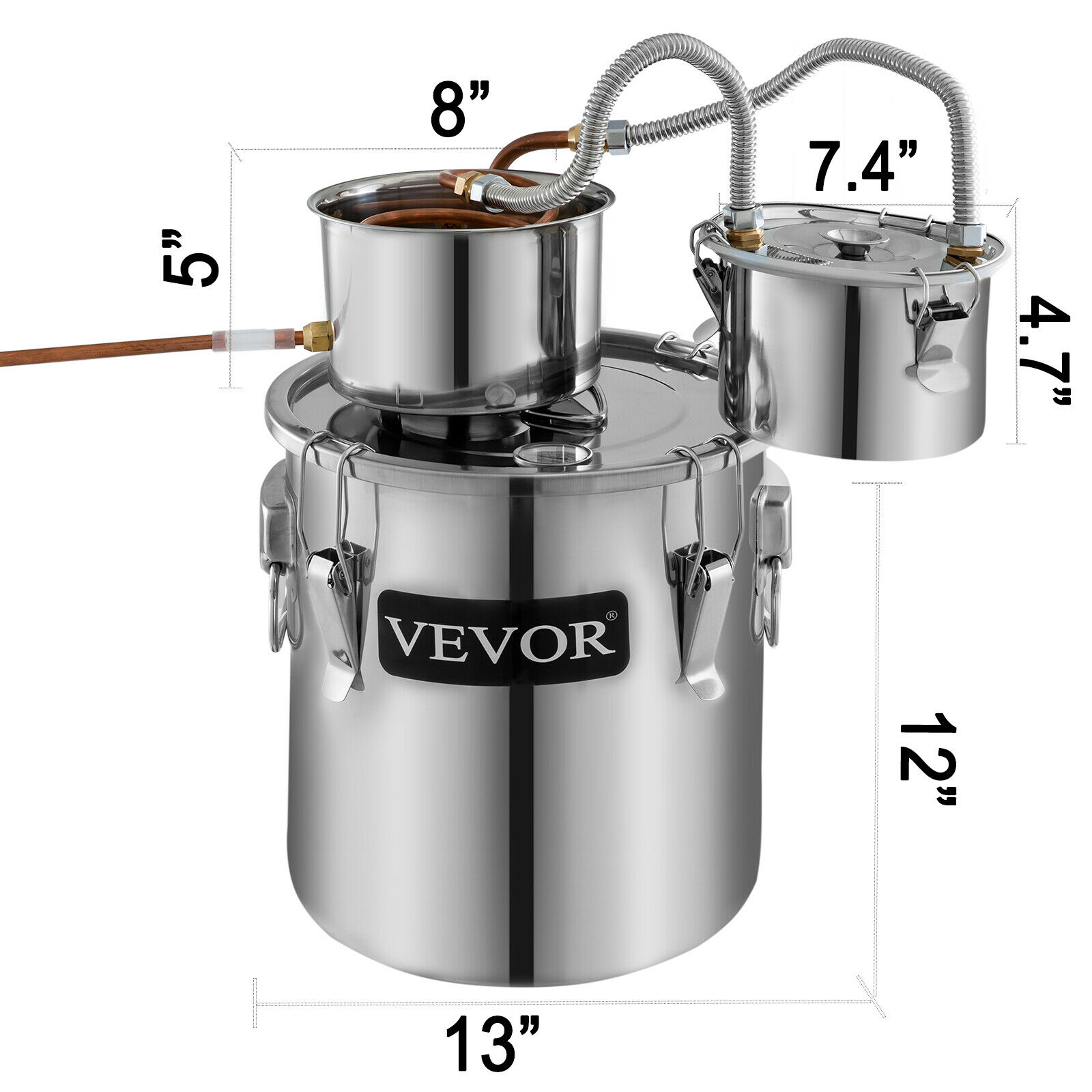 4.6UK GAL Alcohol Distiller 21L Stainless Steel Lute Bucket Obs