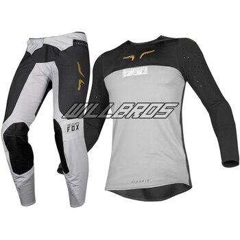 Delicado Fox motocicleta Flexair Royl Jersey pantalones calle Moto equipamiento para jinetes de Motocross traje gris