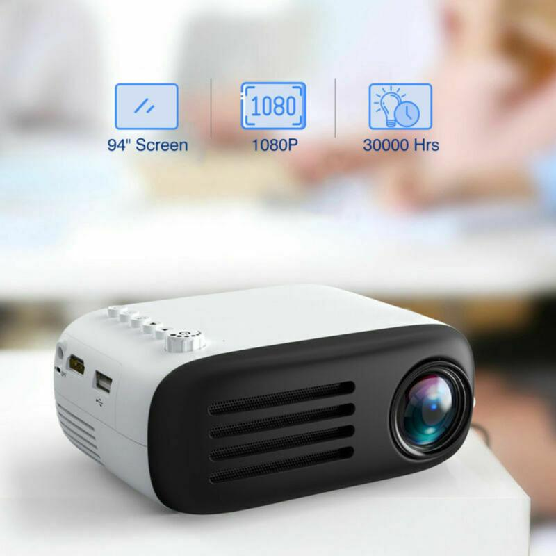 1080p led mini projetor para smartphone de cinema em casa telefone celular completo projetor hd projetor dia das bruxas para projetores móveis-1