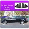 For Mercedes Benz A Class W176 CLA C Class W117 C117 W205 Car Rear Door Louver Window Triangle Shutters Trim Sticker Accessories promo