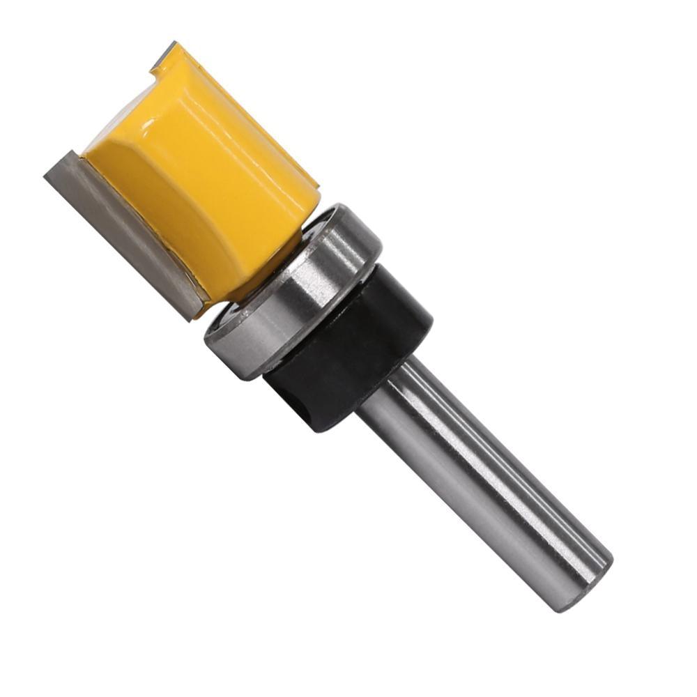 """Carpenter 25 mm longue flûte double edged Flush Trim Router Bit Cutter 1//4/"""" x 1//2/"""""""