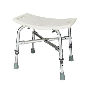 【US Warehouse】Height Adjustable Aluminum Alloy Old People Shower Chair Bath Chair CST-3011 White Free Shipping USA