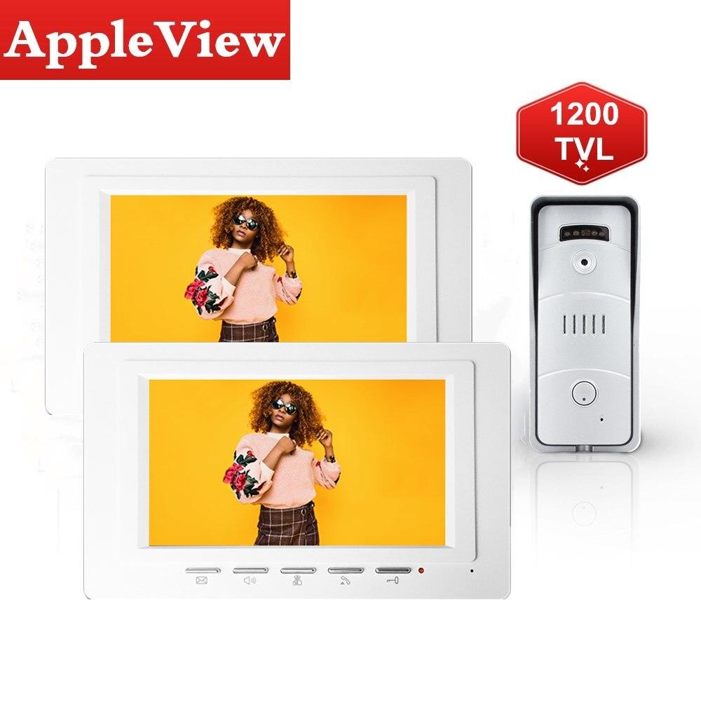 Wired Video Door Phone Intercom Doorbell Camera  Intercom System Support UnLock Day Night Vision