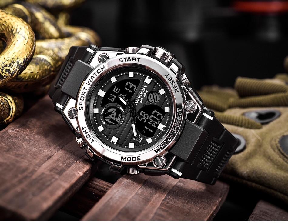 SANDA 739 Sports Men's Watches Top Brand Luxury 2021