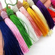 6 шт./лот 15 см веревка с шелковыми кисточками бахромой для шитья бахромой отделкой кисточками для рукоделия аксессуар для штор