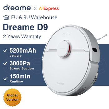 Dreame D9 Robot Vacuum Cleaner Global Version 3000Pa Suction Sweeping Washing Mopping Robot Aspirator Smart Home MIJIA APP WIFI 1