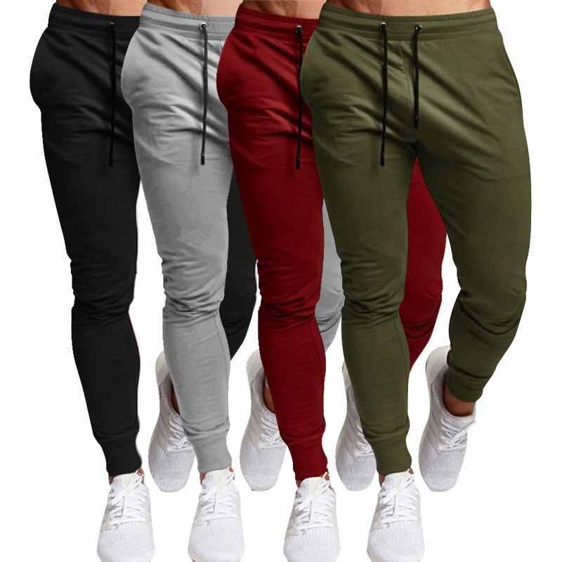 男性スポーツレジャーズボン無地多彩なランニングトレーニングフィットネスパンツレースアップ固体多彩なフィットネスパンツ