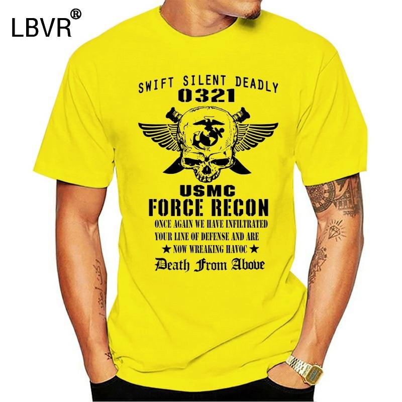 Force Recon military US Marines Semper Fidelis Devil Dog USMC T-shirt