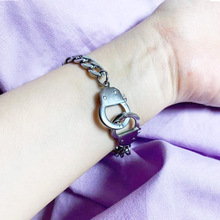 silver plated stainless steel men women handcuff bracelet gift friendship hand chain link bracelet bangle jewelry dropshipping