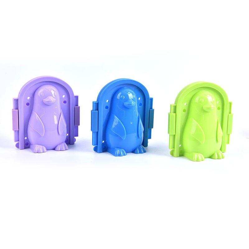 Пластиковый зажим для изготовления зимних снежинок, Детская уличная форма для песка, снежного шара, игрушки для борьбы с пингвином, зажим, и...