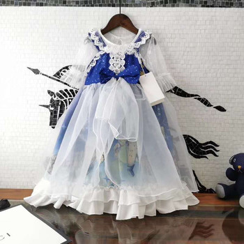 2 pcs Girls 2020 new summer princess dresses patry nice discolor dress