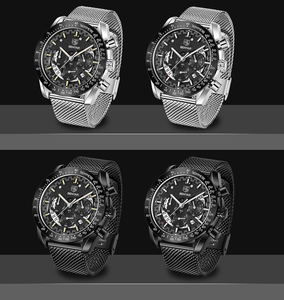 Image 5 - BENYAR top luxury brand watch mens sports stainless steel chronograph quartz business waterproof mens watch relogio masculino