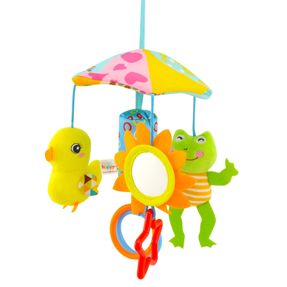 Baby Stroller Crib Pram Bed Hanging Toy Accessorie  Musical Rotating Plush Cartoon Cute  Appease Soothing Hand-eye Coordination