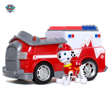 Paw patrol vehicle set boy birthday suit puppy patrol car anime character firefighter marshall action figure Patrulla Canina Toy цена 2017
