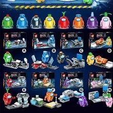8 pçs/set entre os eua anime amigos jogo dos desenhos animados crianças figuras bonecas brinquedos de natal moc montar blocos de construção brinquedos para crianças