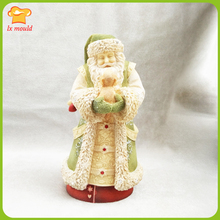 2019 new Christmas silicone mold Santa Claus and dog 3D handmade soap candle flexible