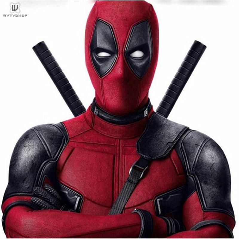 Deadpool 2 Cosplay Costume Halloween Custom For Adult Superhero Deadpool Wade Cosplay Costume Jumpsuit Boots