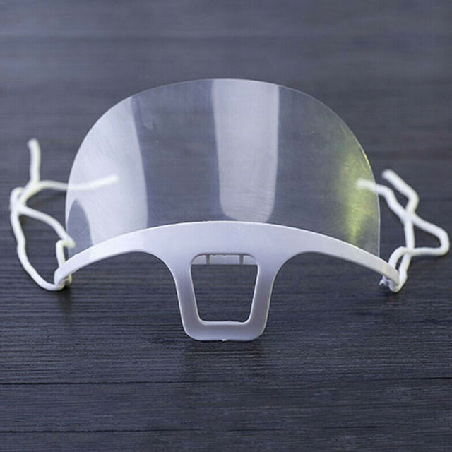 10Pcs Reusable Transparent Anti-fog Mask Shield Cover Plastic Anti-saliva Mouth Shield Mouth Mask Cover 4