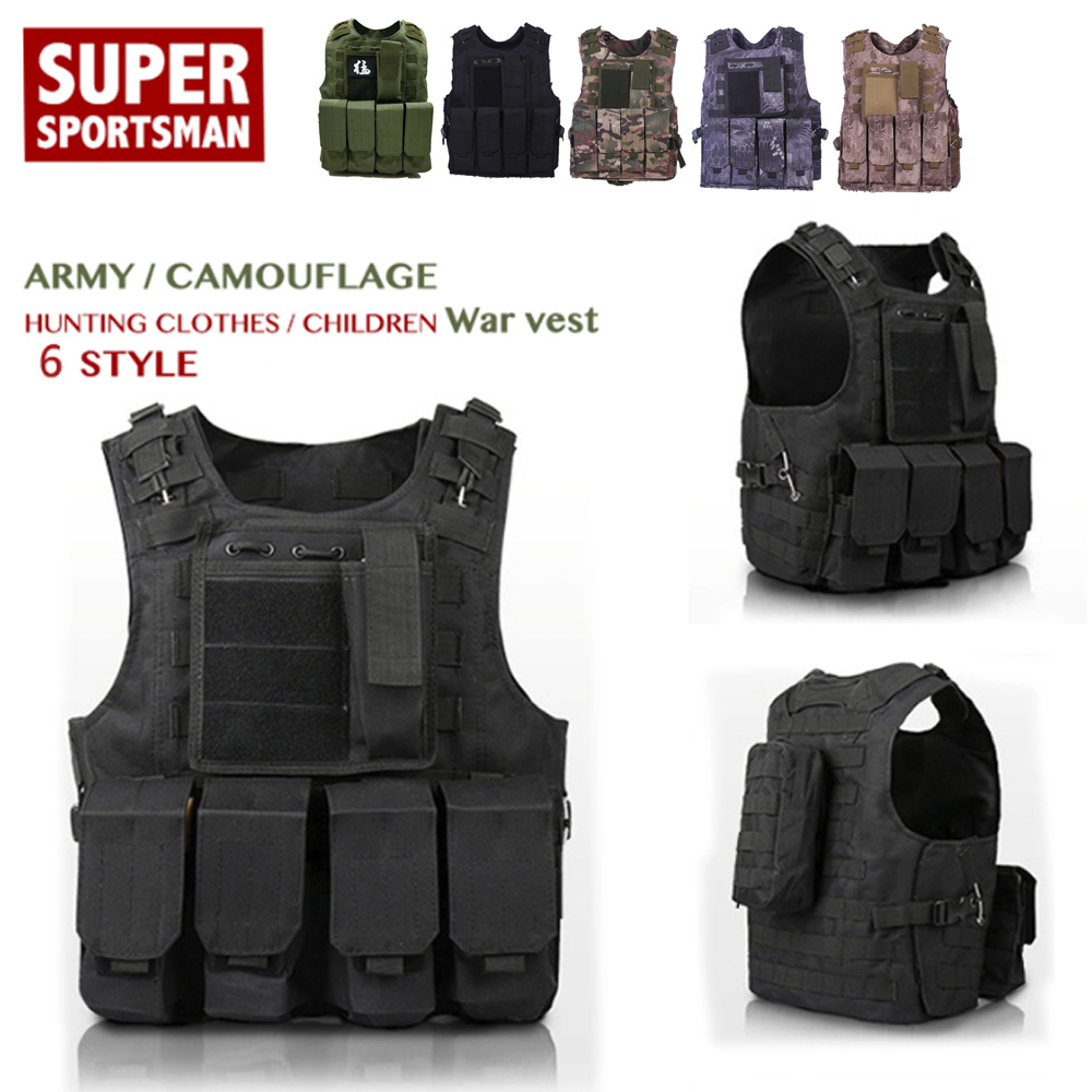 Military Tactical Vest Waistcoatmen Special Forces Vest Armor Hunting Jungle Outdoor Equipment For Children Adult