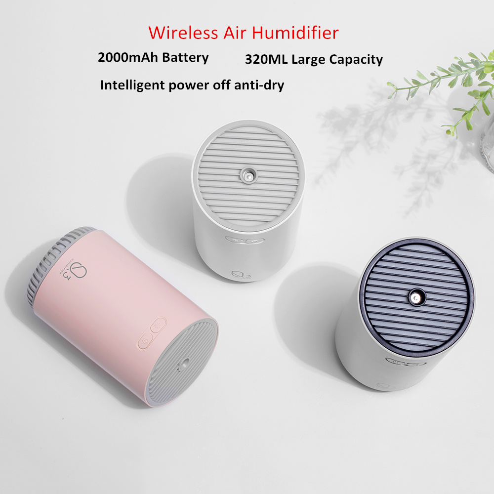 Image 3 - 320ML Wireless Air Humidifier With 2000mAh Battery Cool Mist Ultrasonic Electric Essential Oil Diffusers Aromatherapy Diffuser-in Humidifiers from Home Appliances