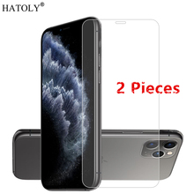 2 uds para iPhone SE 2020 vidrio para Apple iPhone 11 Pro Max 5 5c SE 6 6s 7 8 Plus X XS Max XR Protector de pantalla de película de vidrio templado