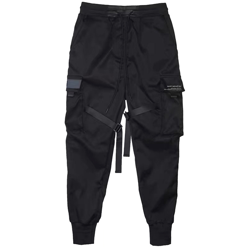 Hot Selling Men Casual Harem Joggers Sweatpant Hip Hop Trousers Multi Pocket Cargo Pants