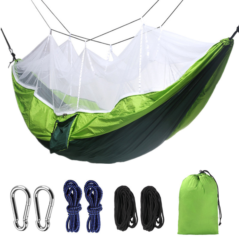 Hammock With Mosquito Net Ultralight Protable Anti-Mosquito Swing Sleeping Hammock Bed With Net For Outdoor Hiking Backpacking